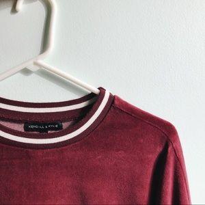 Kendall & Kylie Maroon Sweatshirt
